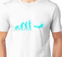 Evolution to Scuba Diver LIGHT BLUE Unisex T-Shirt