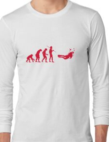 Evolution to Scuba Diver RED Long Sleeve T-Shirt