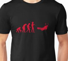 Evolution to Scuba Diver RED Unisex T-Shirt