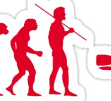 Evolution to Scuba Diver RED Sticker