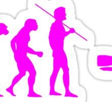 Evolution to Scuba Diver PINK Sticker