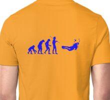 Evolution to Scuba Diver BLUE Unisex T-Shirt
