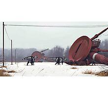 Hadrosaurer vid Markärret, tidig vår. Photographic Print