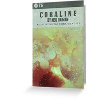 Coraline Vintage Cover Greeting Card