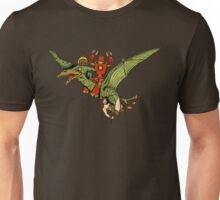 Pterodactyl and Robot Unisex T-Shirt
