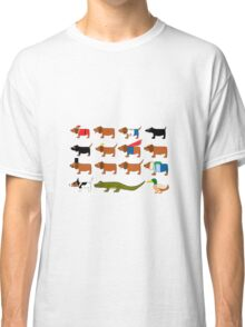 Sneaky Dog and friends Classic T-Shirt