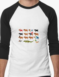 Sneaky Dog and friends Men's Baseball ¾ T-Shirt