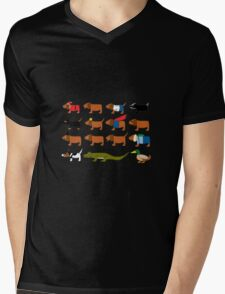 Sneaky Dog and friends Mens V-Neck T-Shirt