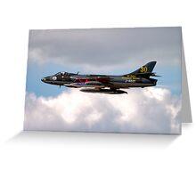 Hawker Hunter F.58  J-4021 Greeting Card