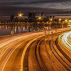 Perth CBD / Kwinana Freeway by Mark  Nangle