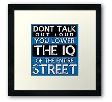 Sherlock - Don't Talk Out Loud... Framed Print