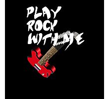 Play Rock with me Photographic Print