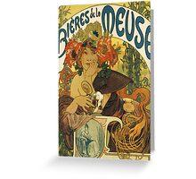 Mucha - Bieres de la Meuse Greeting Card