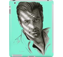 G. Clooney in black and white iPad Case/Skin