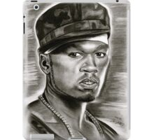 50 cent in black and white iPad Case/Skin