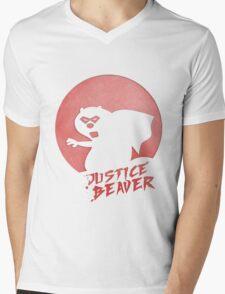 Justice Beaver Mens V-Neck T-Shirt