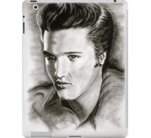Elvis in black and white iPad Case/Skin