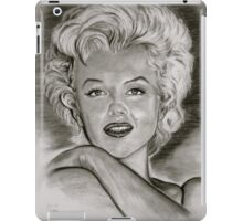 Marilyn in black and white iPad Case/Skin