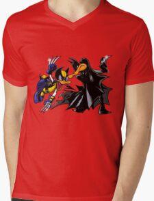 Duck Fight! Mens V-Neck T-Shirt