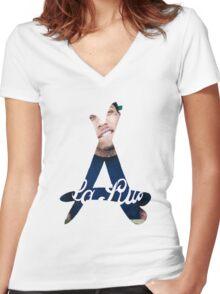 Kid Ink Alumni Logo Women's Fitted V-Neck T-Shirt