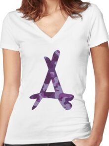 Kid Ink Alumni Logo  Women's Fitted V-Neck T-Shirt