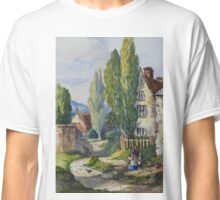 Watercolour of Cogenhoe, Northamptonshire, 1873 Classic T-Shirt