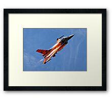 """RNethAF F-16AM Fighting Falcon J-015 """"Orange Lion"""" Framed Print"""