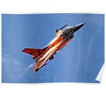 """RNethAF F-16AM Fighting Falcon J-015 """"Orange Lion"""" Poster"""
