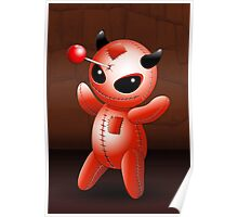 Voodoo Doll Evil Devil Cartoon Poster