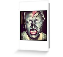 artistic anger  Greeting Card