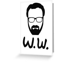 W.W. Whalter White Greeting Card