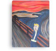 The Scream - Vault Boy Canvas Print