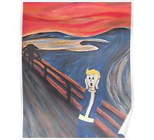 The Scream - Vault Boy Poster
