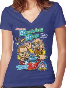 Breaking Bran Women's Fitted V-Neck T-Shirt