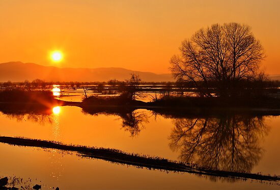 Sunset @ Lake Kerkini by Hercules Milas