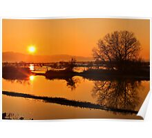 Sunset @ Lake Kerkini Poster