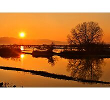 Sunset @ Lake Kerkini Photographic Print