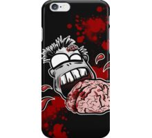 Zombie Eats Brains - Zom nom nom iPhone Case/Skin