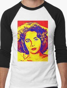 Elizabeth Taylor Men's Baseball ¾ T-Shirt
