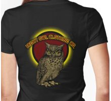 night owl tee Womens Fitted T-Shirt