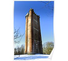 King Alfred's Tower, Stourton, Wiltshire, United Kingdom. Poster