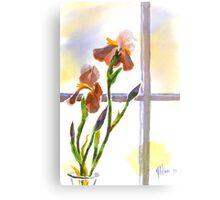 Irises in the Window Canvas Print