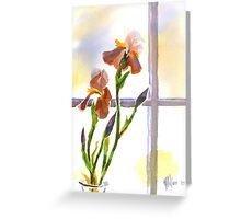 Irises in the Window Greeting Card