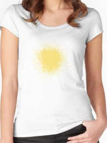 Orange Paint Splotch Women's Fitted Scoop T-Shirt