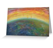 EARTH SITING Greeting Card