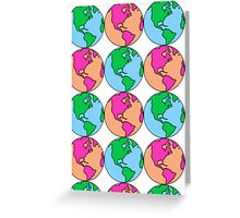 Earth Pattern Greeting Card
