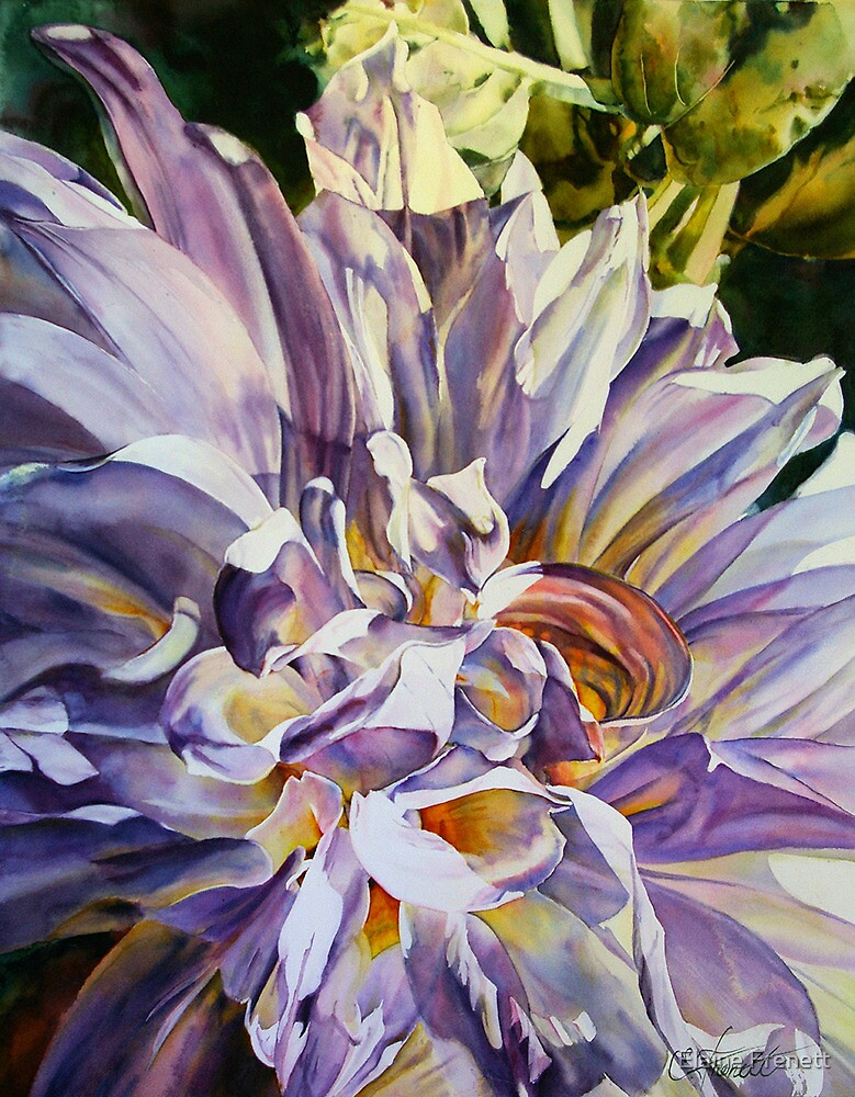 Silver Queen Dahlia by Elaine Frenett