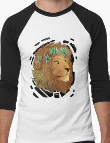Flower Crown Lion Men's Baseball ¾ T-Shirt