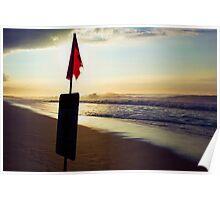 Sundown, North Shore Poster