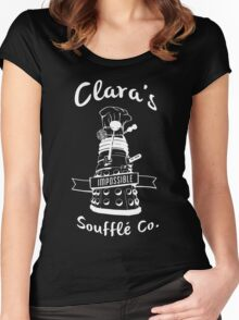 Clara's Impossible Soufflé Company (White) Women's Fitted Scoop T-Shirt